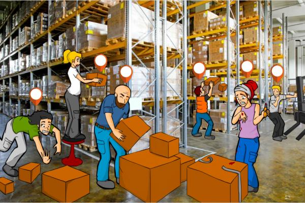 Prl en almacenes bdnplus bdnplus for Plan de prevencion de riesgos laborales oficina